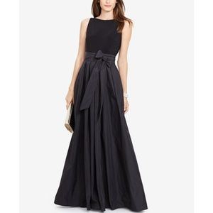 Lauren Ralph Lauren Jersey Combo Gown DRESS
